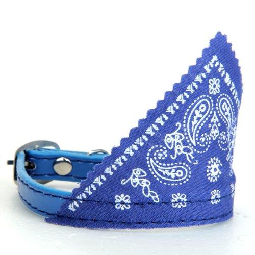 Durable Blue Single Prong Buckle Dog Bandana Collar Neckerchief Neck Scarf
