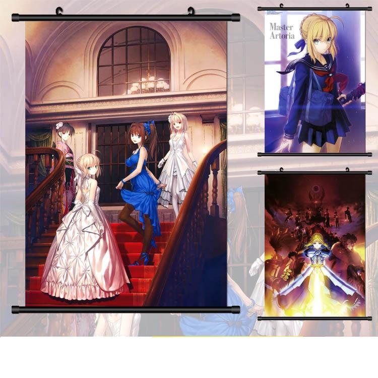 (40*60 cm) SABER FATE Wall Scroll Peinture Anime peintures Mur Autocollants