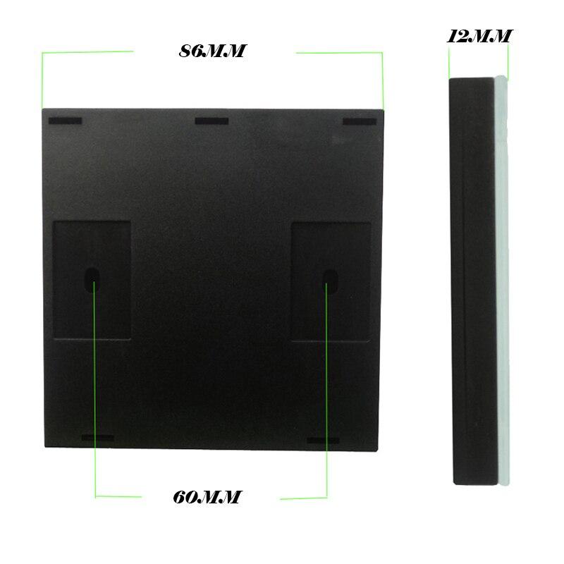 Interrupteur mural en verre cristal de luxe Standard MiniTiger EU interrupteur tactile Normal 3 gangs et 3 gangs - 2