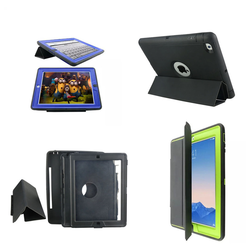 все цены на WES-XKSW Heavy Duty Armor Cover Dual Hard Plastic Silicone Tpu Hybrid Case for Apple iPad 2 3 4 with Stand онлайн