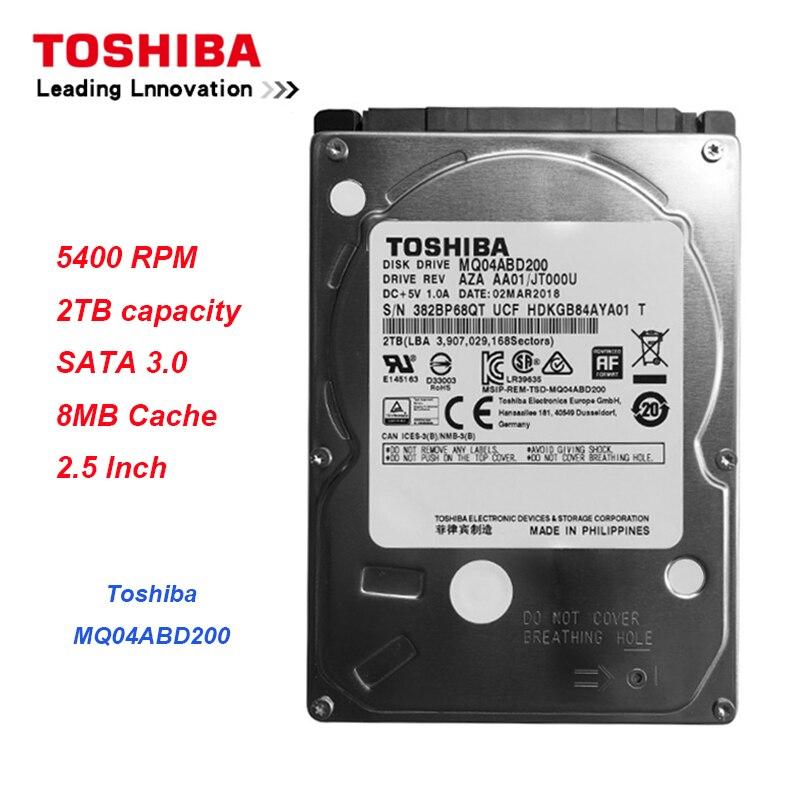 "Original Toshiba 2TB Hard Drive Disk MQ04ABD200 SATA 5400RPM 16MB Cache 7mm Thinness 2.5"" Internal Hard Drive for Laptop PC"