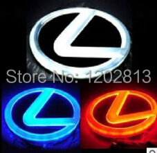 Free Shipping High Quality 4D LED Light Truck LOGO Emblem Tail Car Badge Lamp Sticker For LEXUS LS270 GS300 ES300 ES240 DS350 black color car emblem sticker rear tail sticker logo rs3 rs4 rs5 rs6 badge logo 3d aluminum alloy for audi rs3 rs4 rs5 rs6