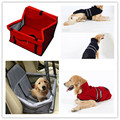 Red-Pet Dog Waterproof Car Seat  Universal Pet Car Seat Breathable Grid Front Single-seat Box free shipping