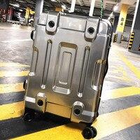 20'24'26'29' дюймовый экспортный креативный чемодан для переноски в кабине жесткий багаж металлическое покрытие тележка чемодан на 4 колесиках