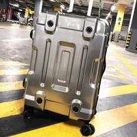 20'24'26'29'inch Export Creative Suitcase Carry On Cabin Hardside Luggage Metal Plating Trolley Spinner Koffer Wheeled Case