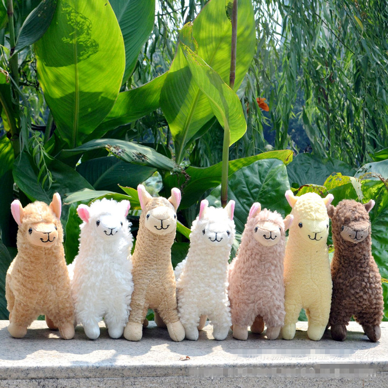 Lovely 23cm White Alpaca Llama Plush Toy Doll Animal Stuffed Animal Dolls Japanese Soft Plush Alpacasso For Kids Birthday Gifts(China)