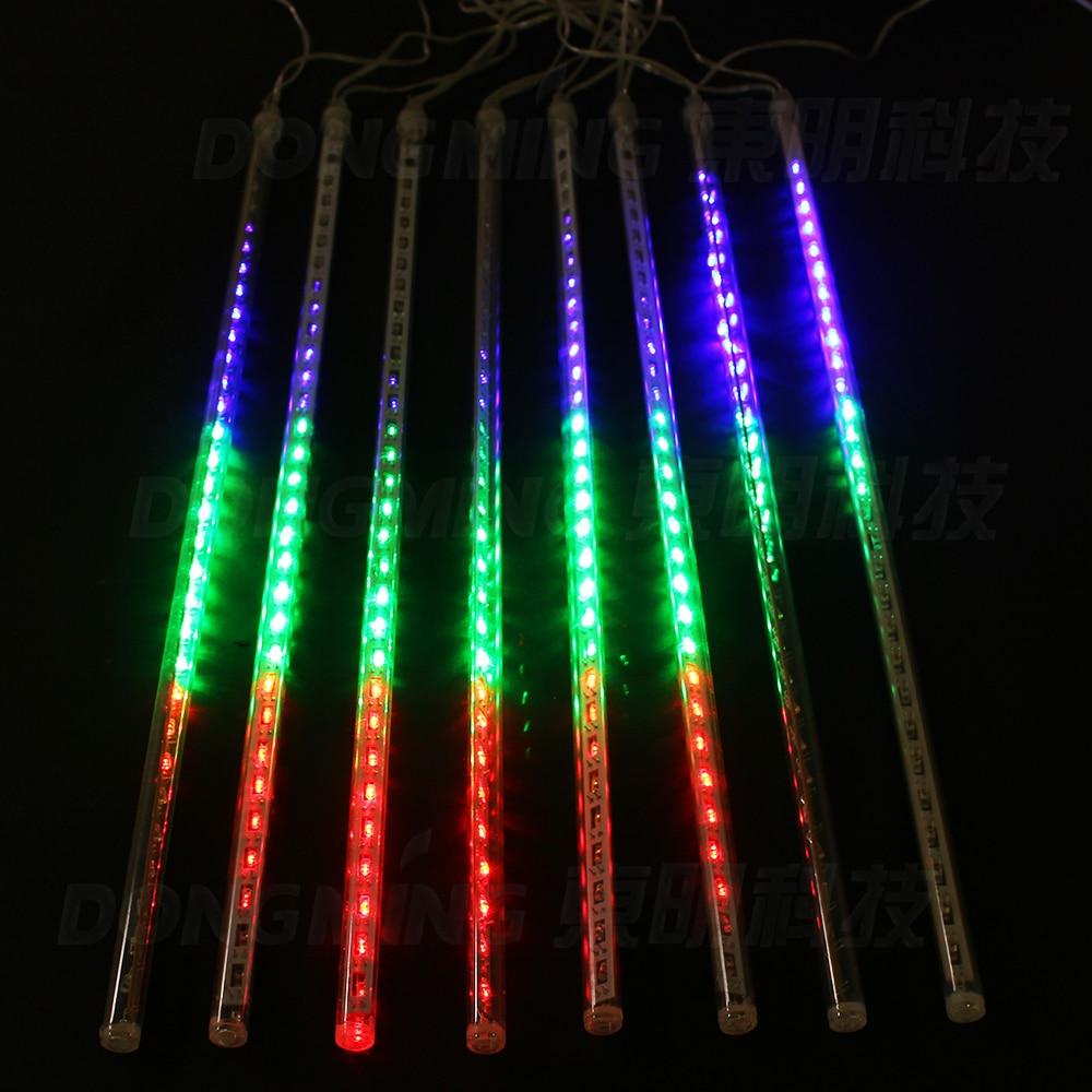50CM Meteor Douche Tubes De Pluie LED De Noël Lumières Garden Party - Éclairage festif - Photo 2
