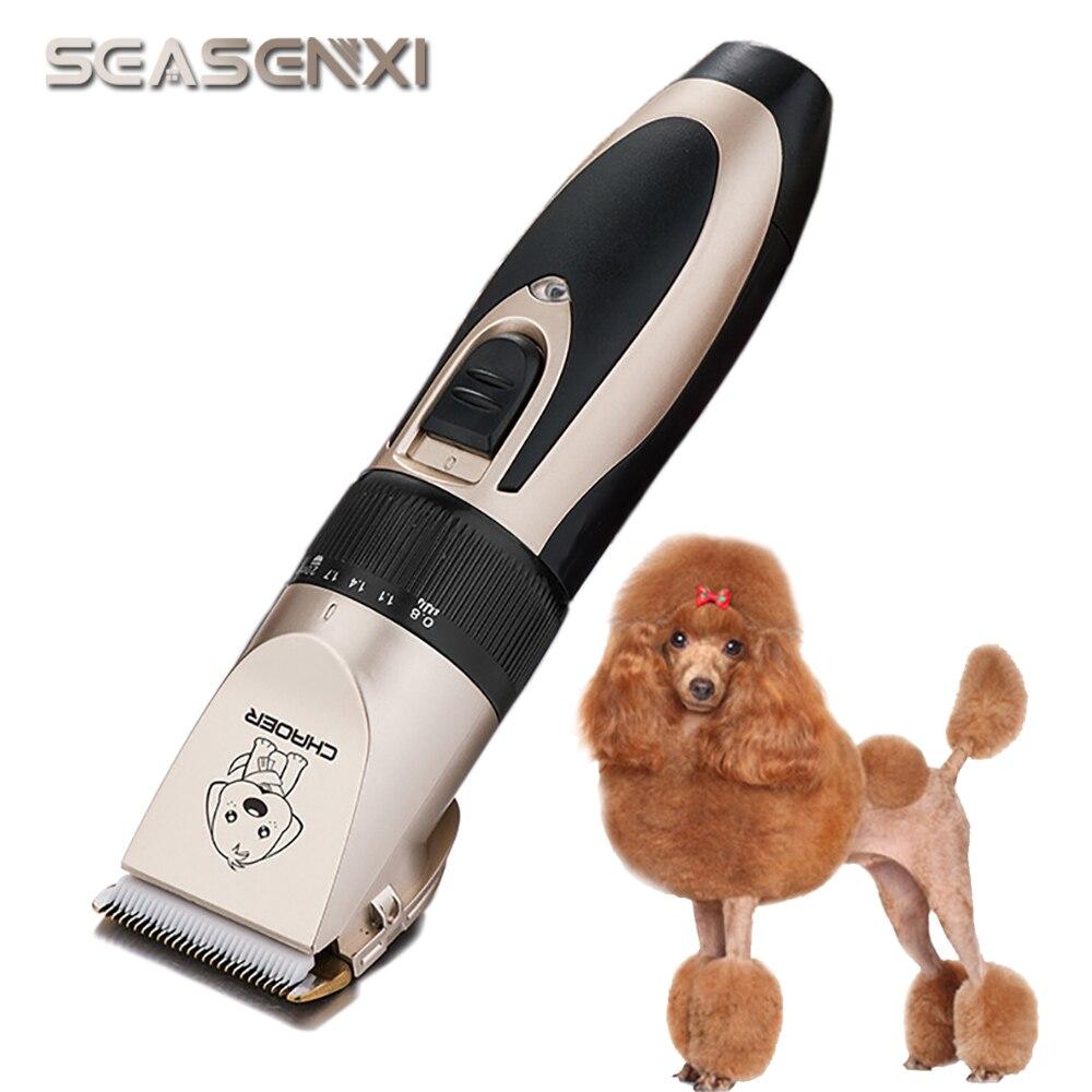 Professionnel Tondeuse Pour Chiens Tondeuse USB De Charge Chien Toilettage Tondeuses Pour Chiens Chiot Chats Cheveux Coupe de Cheveux Machine Pet Produits