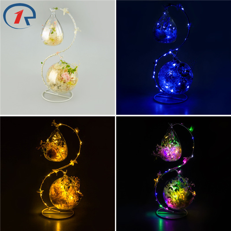 Zjright S Shape Decoration Glass Colorful Led Light String Interior Fragrance Eternal Flower Xmas Holiday Kids Birthday Gifts By Scientific Process Lighting Strings