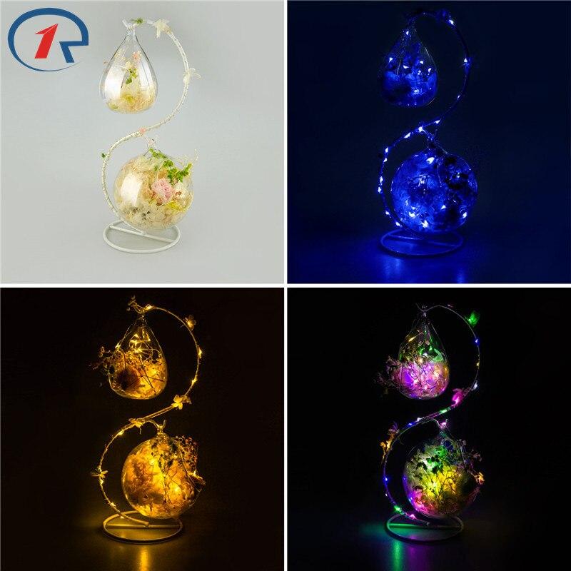 ZjRight S shape decoration glass colorful LED light string Interior Fragrance Eternal <font><b>Flower</b></font> Xmas Holiday kid