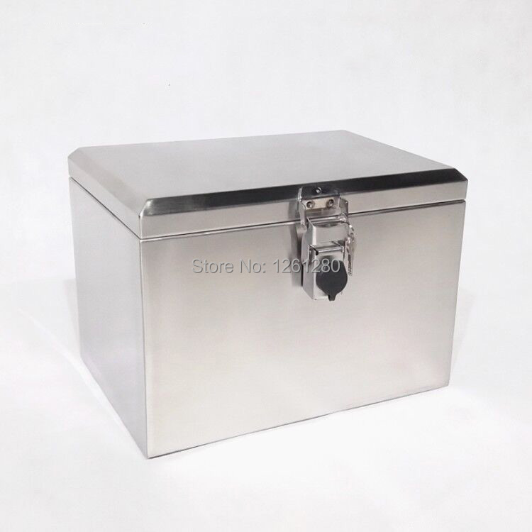 Portable Stainless Steel Toolcase Home Storage Tool Box Tool Packaging Equipment Transport Side Box Motorcycle  Trunk