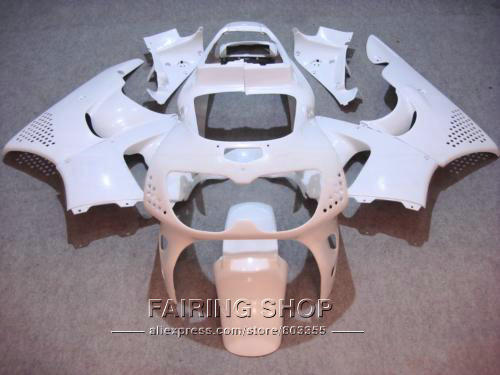 CBR900RR 893 1996 1997 For HONDA Fairings all white Free customize Fairing kit cbr 900rr 97