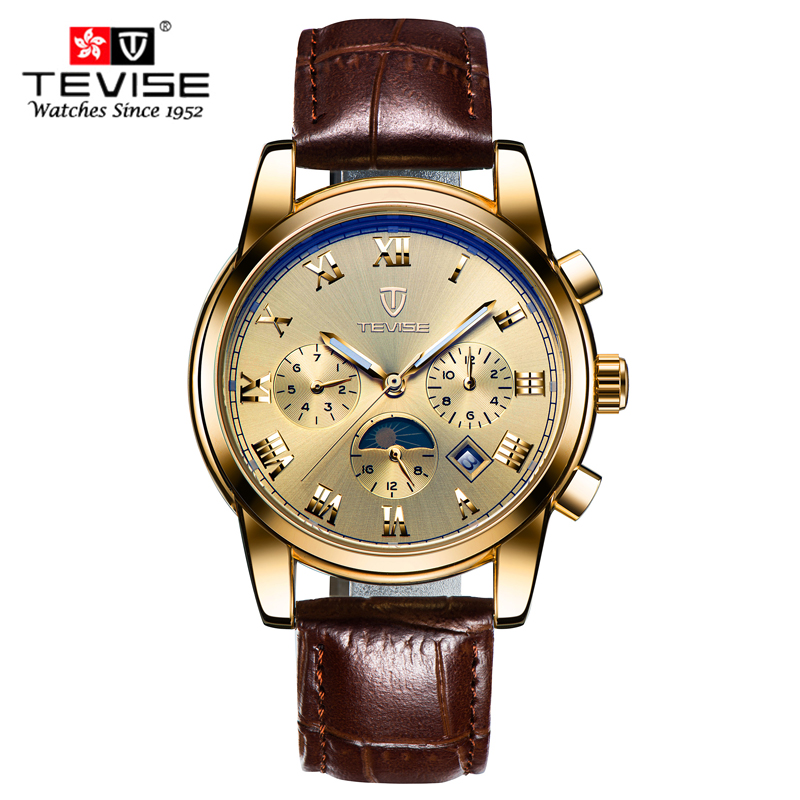 men wrist watch men sport clock TEVISE Luxury brand fashion classic mechanical watches Leather relogio masculino tevise fashion sport automatic mechanical watch men top brand luxury male clock wrist watches for men relogio masculino t629b