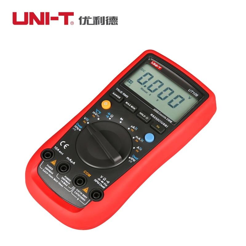 UNI-T UT108 Handheld Digital Multimeters Automotive Multi-Purpose Meters Volt Amp Ohm Capacitance Frequency Testers  цены