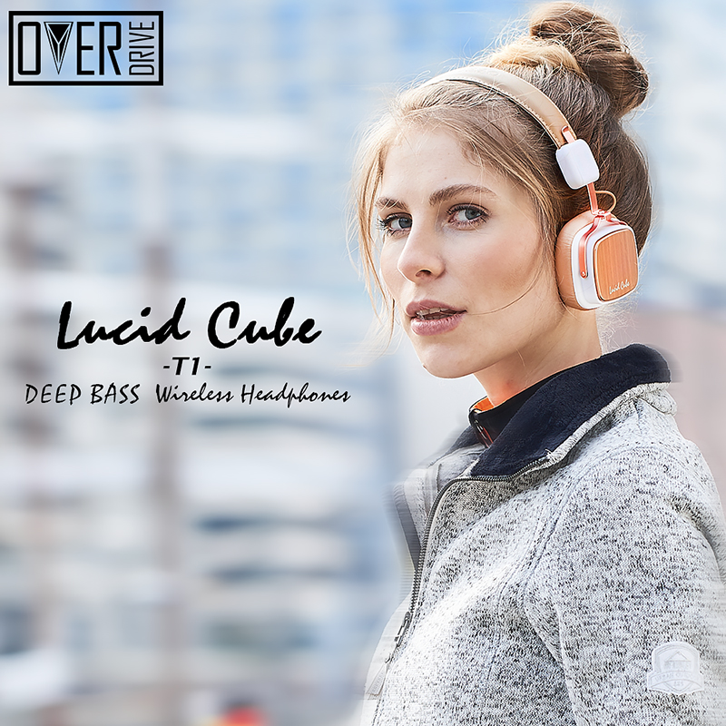 OVERDRIVE Foldable Portable Wireless Bluetooth Headphones with Stereo Bass Music Headset Aluminium alloy shell for smartphone