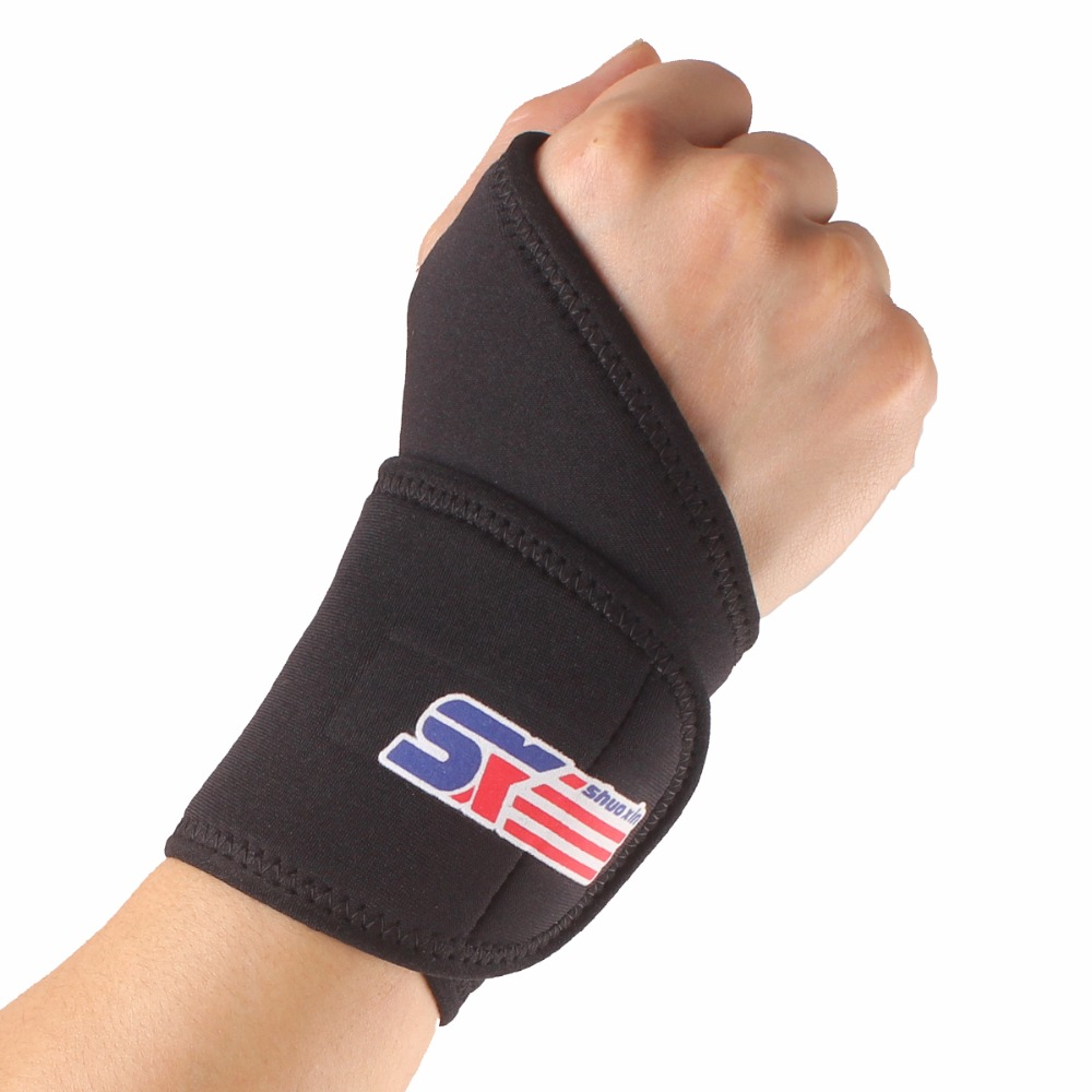 1 PCS Adjustable Wrist Brace Support Wrap for Badminton Tennis Weightlifting Safety sports wrist protector