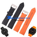 The silicone rubber watchband  waterproof width 23mm for ar5987Orange black wristwatches band soft and comfortable