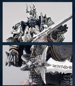 Image 2 - Famous Game Character WOW The Lich King Action Figure Fall of the Lich King Arthas Menethil 7 inch PVC Toy Figure Free shipping