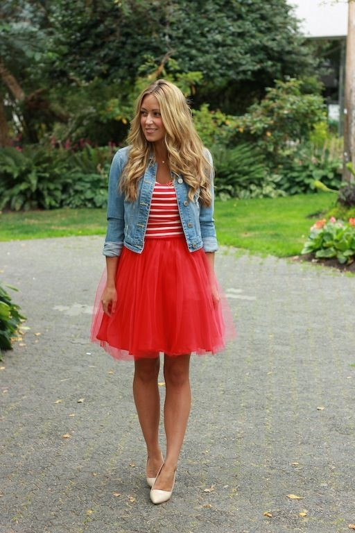 Unique Short Tutu Skirts Adults Red A Line Knee Length Cusual Girls Tulle Skirt Saias Size Available In From Womens Clothing Accessories On