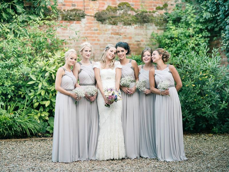 2017 Latest Design Grey Bridesmaid Dresses Vintage Maid Of
