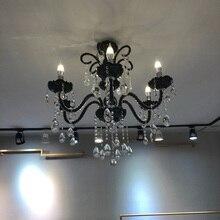Náutica Bar cafetería tienda mini candelabro negro led lamparas 6/8 brazo comedor dormitorio Chico's vintage candelabros de vidrio Avize