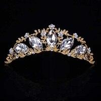 HOT Elegante Sparkly Rhinestone Do Vintage Gota de Água Nupcial Prom Pageant Coroas Tiaras de Cristal Cabelo Pentes de Casamento Para A Noiva T-031
