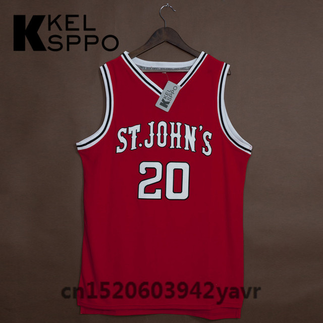 fe0b1c11c34 Custom Adult Throwback Basketball Jerseys #20 Chris Mullin ST John's  University Embroidered Basketball Jersey Size XXS-6XL
