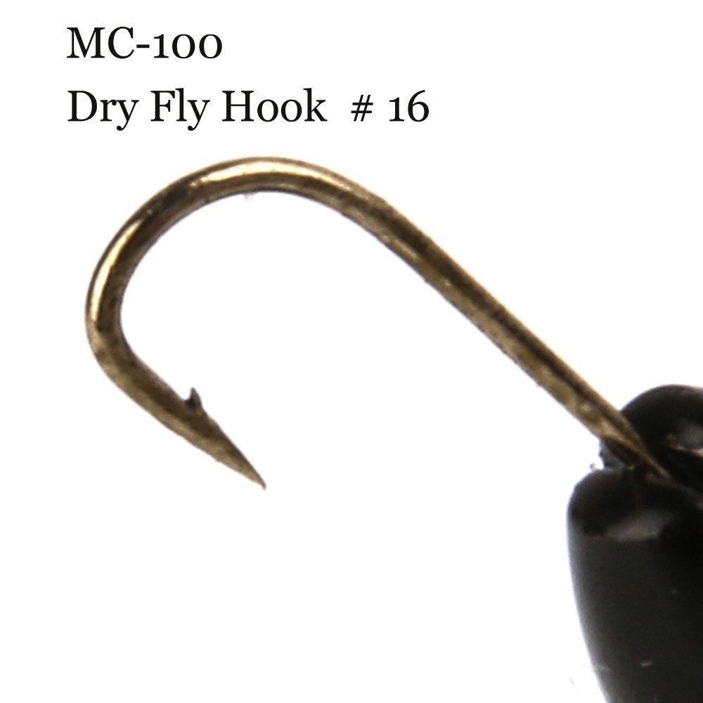 500 pieces mc 100 size 16 fly tying hook dry fly hook fly for Fly fishing hook sizes