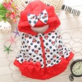 BibiCola Winter Children baby girl Warm Outerwear Clothing Cartoon Jacket Coat Baby Kid White parkas And hoodies Clothes Costume