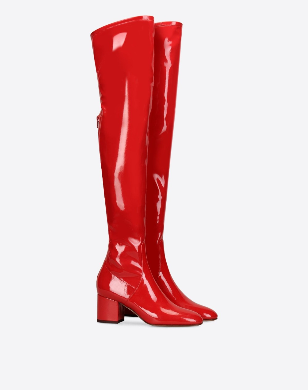 b9f01389b7 Popular Patent Leather Thigh High Boots-Buy Cheap Patent Leather ... Women Red  Long Boots Autumn Patent Leather Comfort Low Heel ...