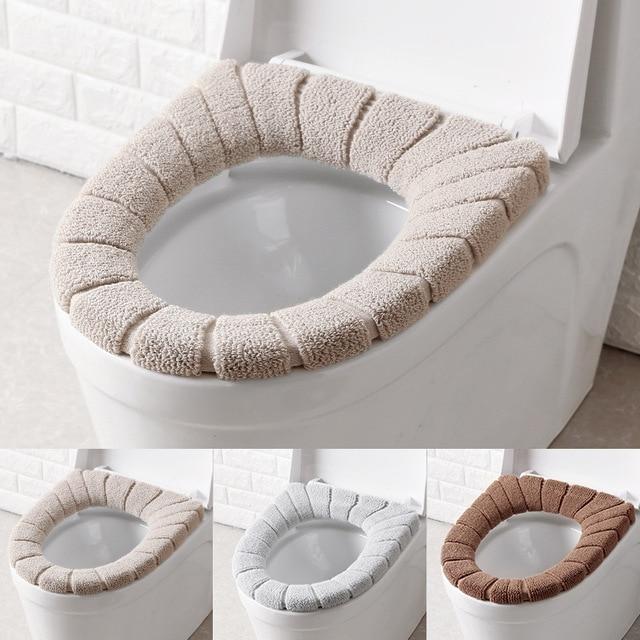 3 цвета накалки на сиденье унитаза теплые удобные коралловые Чехлы для унитаза квалифицированные коврики для ванной комнаты и туалета коврик для ванной комнаты