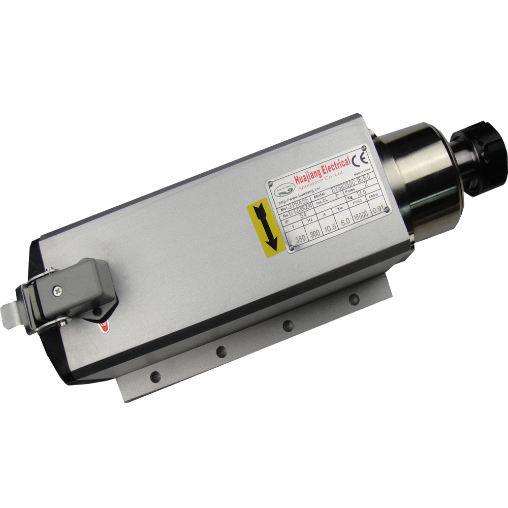 6KW air cooling spindle square ER32 AC380V 18000rpm air cooled spindle motor 300HZ 10.5A
