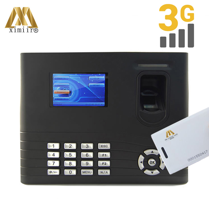 Door Access Control ZK IN01 Biometric Fingerprint Time Attendance And Access Control With 3G ID TCP/IP USB With Backup Battery