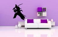 الفينيل ملصق الحائط الشارات جدارية تصميم غرفة نوم الاطفال غرفة الفن أنيمي السامرائي المحارب تزيين المنزل