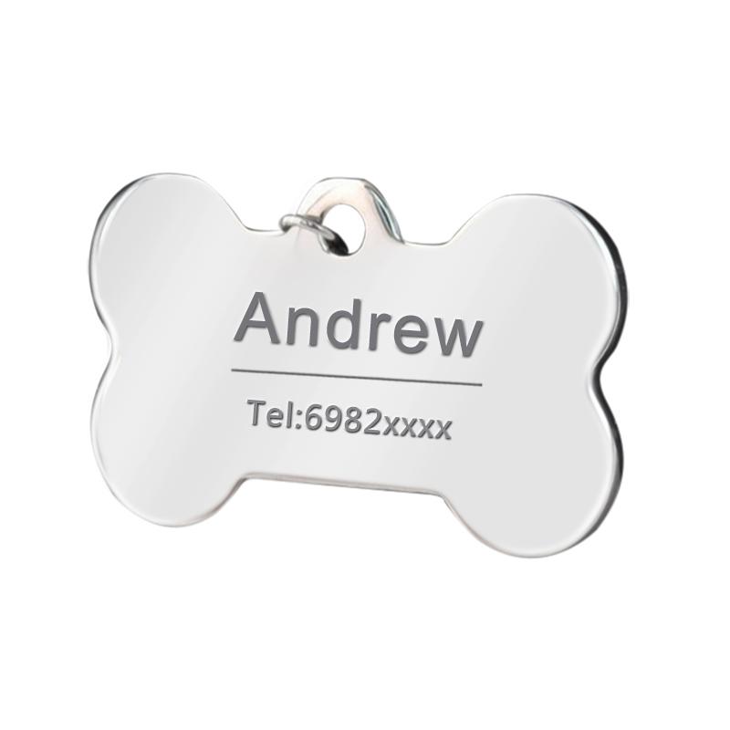 Etiqueta de identificación personalizada para collares de perro 4