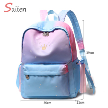цена на Waterproof Oxford Backpack School Bags for Teenagers Girls Bolsas Mochilas Escolares Femininas Rucksacks Unisex Backpacks Chains