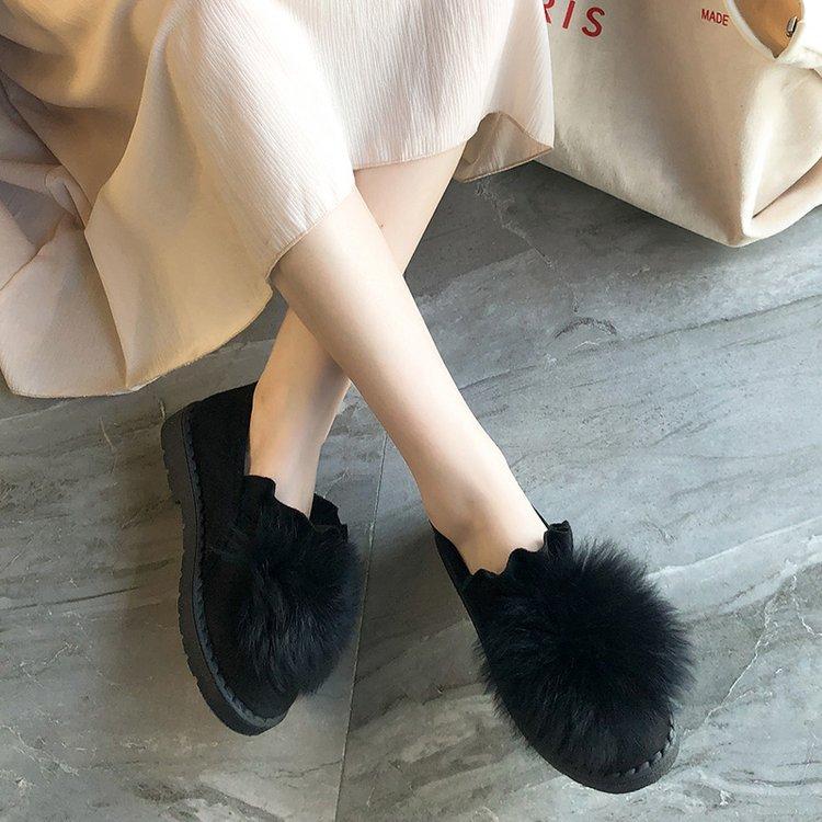 Mode khaki Hiver Cheville Épais Chaudes Noir Plat Bottes Poils Peluche vert Neige Femmes Nouveau Rembourré Sur De En Chaussures 2018 Coton Slip Boules q4Pqwgxp