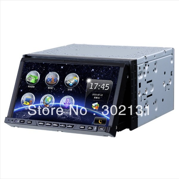 Free shipping universal 2 din car gps android car dvd player 3G Wifi car radio high quality touch screen android 4.0 car dvd