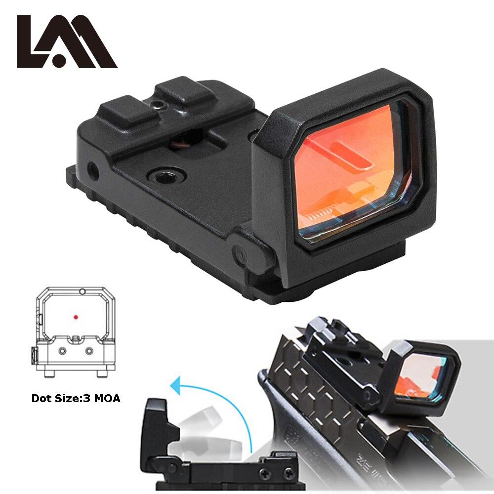 Vism Flip Rouge Dot Sight Pistolet Vue Holographique Sight Reflex pour Airsoft MOS Glock Monte et Diapositives Usinées à Trijicon RMR