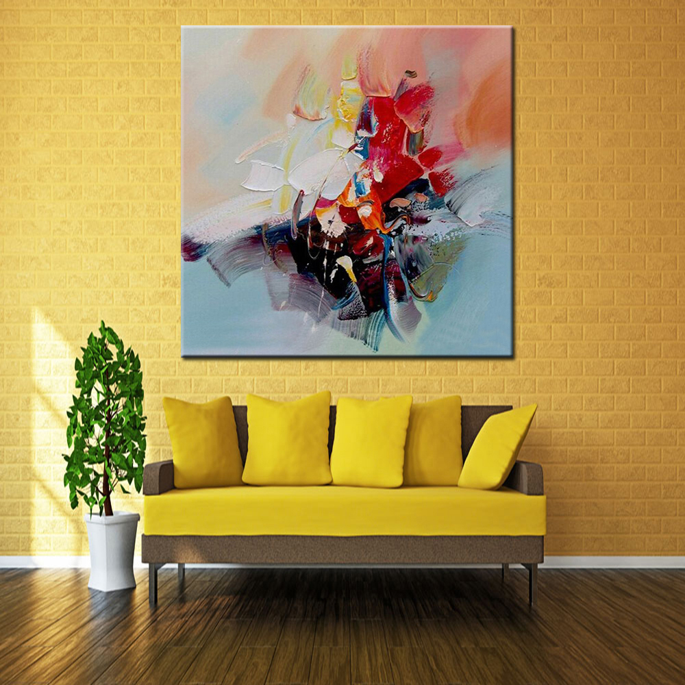 Hand Painted Modern Abstract Oil Painting On Canvas Living Room Home ...