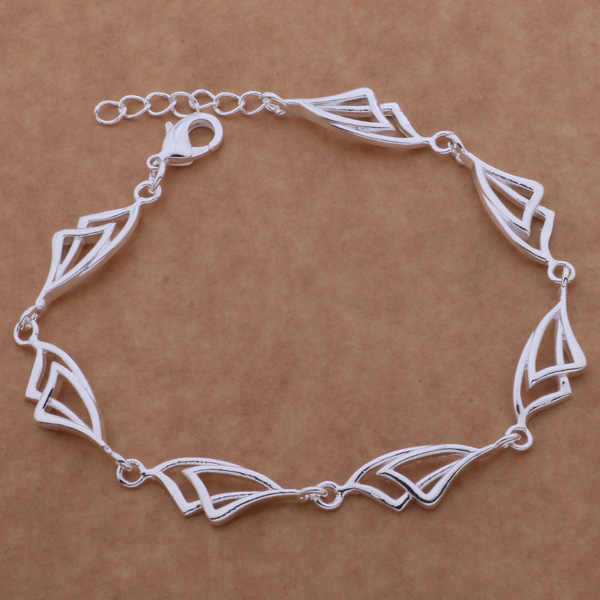 AH158 Wholesale Lucky Silver Color Charm Bracelets For Women Popular Fashion 925 Jewelry All The Sails /egoamxva Aixajaea