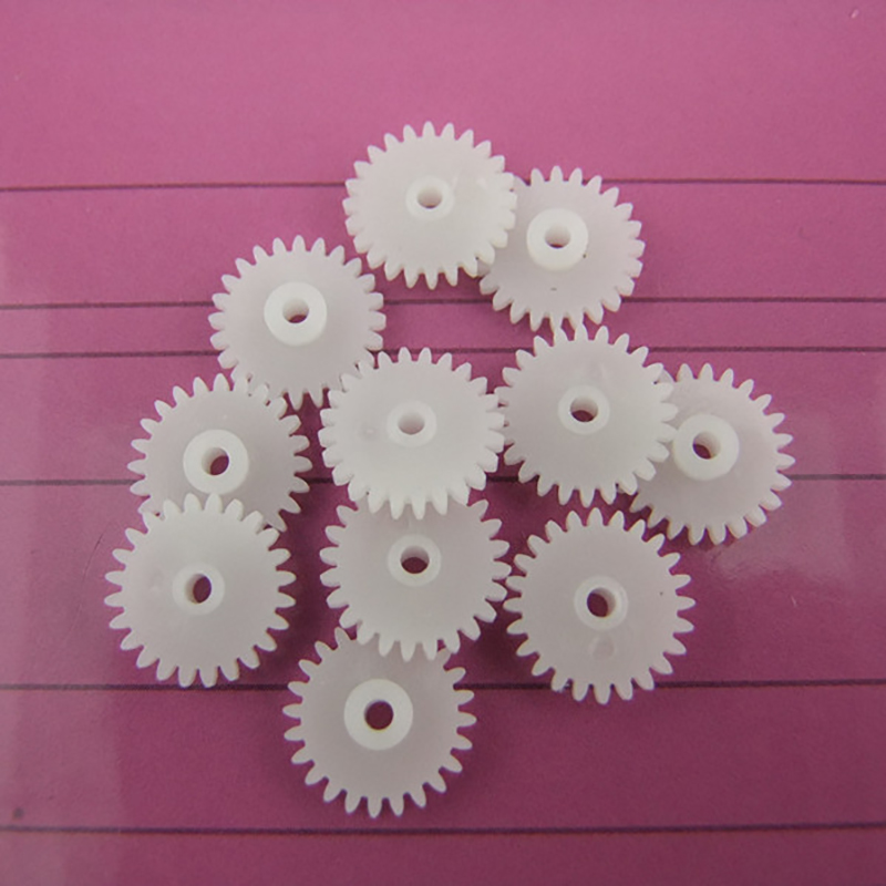 30pcs 24tooth/2MM hole/0.5M plastic motor gear/Reducer gear/rc car/DIY toys accessories/technology model parts/baby toys/242A