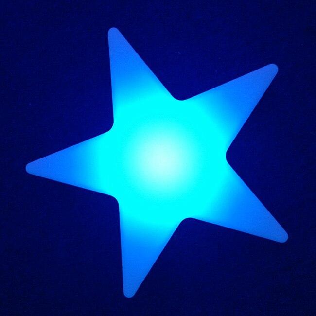 L40 * W40 * H12cm Cinque Star Luci notturne 16 cambiamento Di colore Di scintillio Star ricaricabile Impermeabile Decor Lampade Trasporto libero 5 pz/lotto - 5