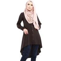 2017 מאפיינים אתניים נשים ארוך חולצות טריקו Islimic המזרח התיכון קפטן ללבוש חולצה בגדים מוסלמיים