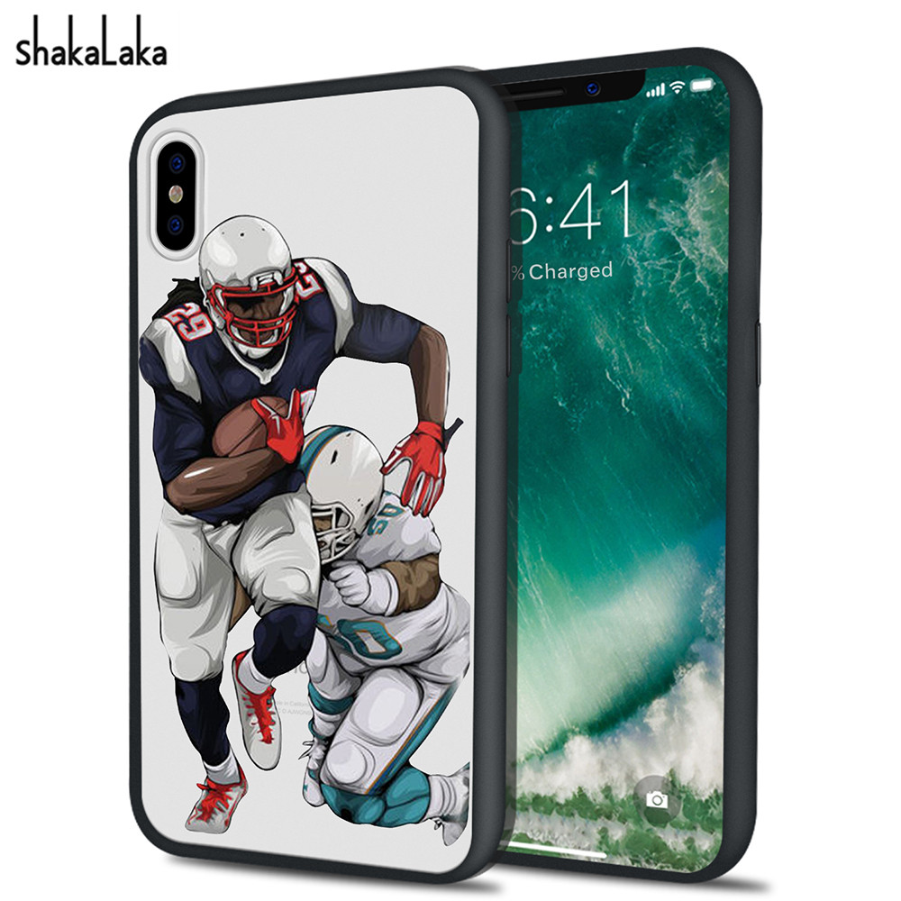 Newest Soccer Football NFL Starts Hard Acrylic Shaka laka Phone Cover Case capa for iPhone 5 5s SE 6 6S 7 8 plus X Phone Clear