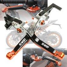 цена на CNC Aluminum Motorbike Motorcycle Brake Clutch Levers Foldable Extendable For KTM 990SMR 990SMT 990 SMR SMT 2009-2013