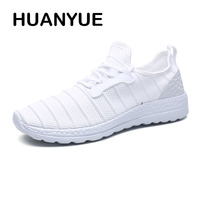 Plus Size 38 47 Summer Men Shoes Breathable Mesh Men's Casual Shoes Fashion Lace Up Soft Light Flat Shoes For Men White Sneakers