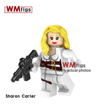 Single Sharon Carter Batman Superman Cyborg Penguin Flash Building Blocks Toys for Children Gifts Kids Friends Halloween Figure(China)