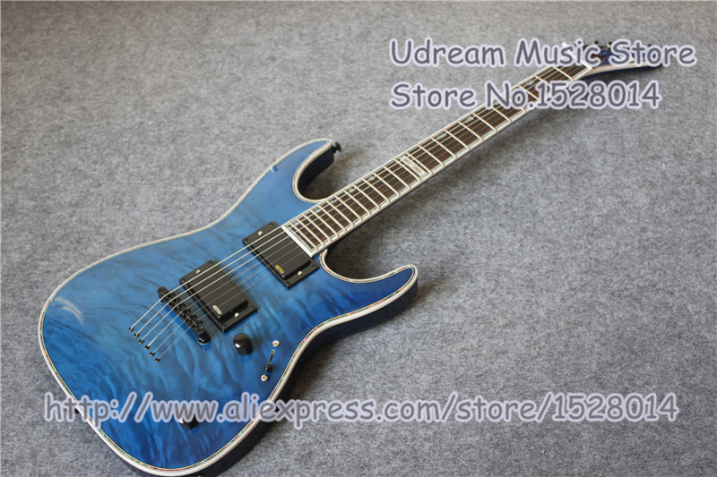 Hot Sale Blue Tiger Grain Finish Suneye MH-1000 Electric Guitar In Blue Color Left Handed Custom AvailableHot Sale Blue Tiger Grain Finish Suneye MH-1000 Electric Guitar In Blue Color Left Handed Custom Available
