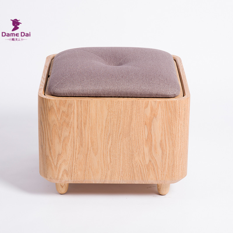 Aliexpress.com  Buy Soid Oak Wood Organizer Storage Stool Ottoman Bench Footrest Box Cube Ottoman Furniture Fabric Cushion Top Square Ottoman Seat from ... : wooden storage stool - islam-shia.org